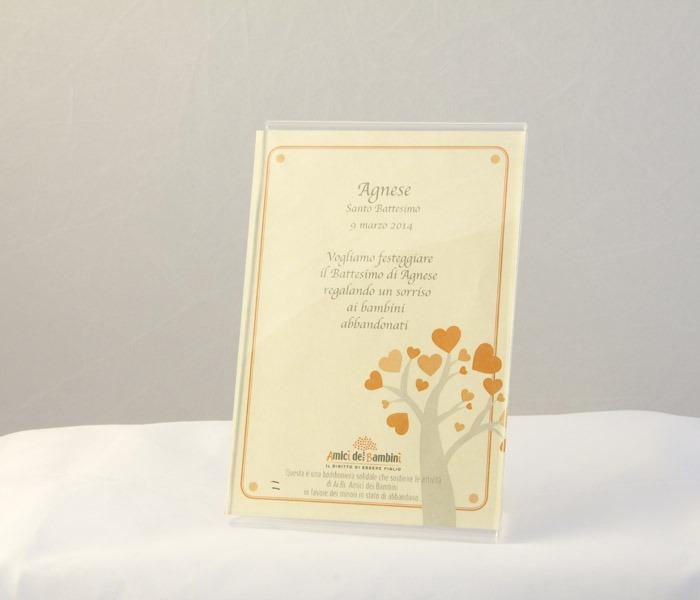 Pergamena Matrimonio Simbolico : Pergamena solidale personalizzata bomboniere solidali ai bi