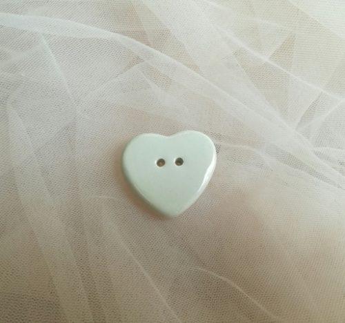 cuore bottoncino ceramica