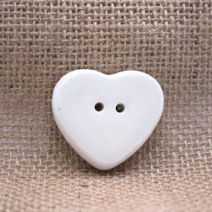 Bottoncino ceramica cuore