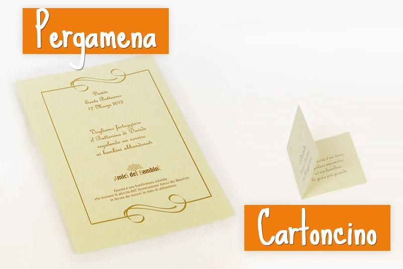 Cartoncini e Pergamene solidali