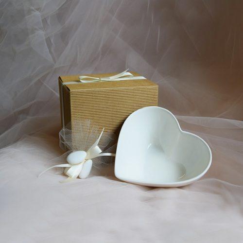 ciotola cuore porcellana